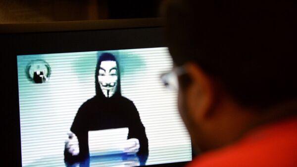 Активист группы Anonymous. Архивное фото