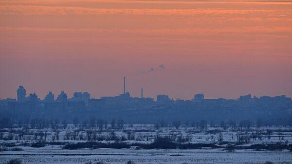 Вид на город Барнаул в Алтайском крае