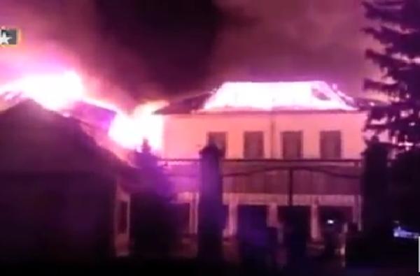 В сети появились первые кадры пожара в санатории Ессентуков