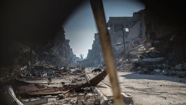 Разрушения в районе Ярмук в Дамаске. Архивное фото