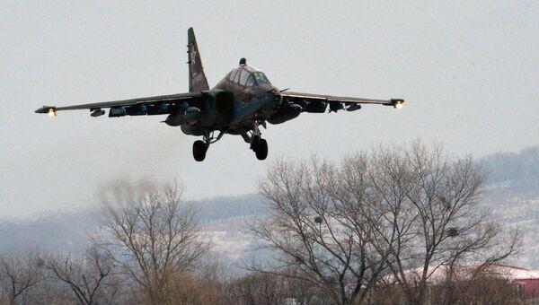 Российский штурмовик Су-25. Архивное фото