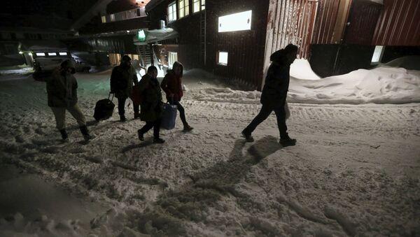Беженцы в лагере Швеции. Архивное фото