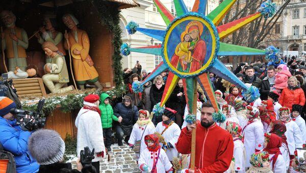 Празднование Рождества во Львове. Архивное фото