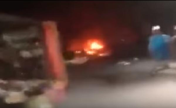 Взрыв автомобиля возле торгового центра Багдаде. ВИДЕО