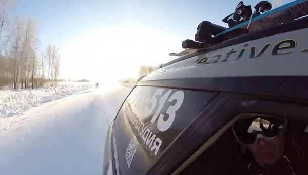 На лыжах на 130 км/ч