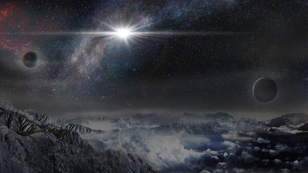 Так выглядела бы мощнейшая сверхновая Вселенной ASASSN-15lh на планете в 10 тысячах световых лет от нее