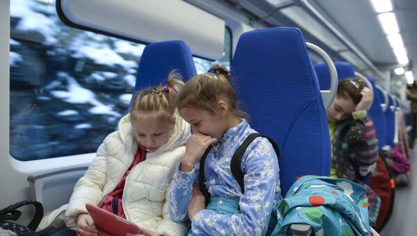 Пассажиры скоростного поезда. Архивное фото