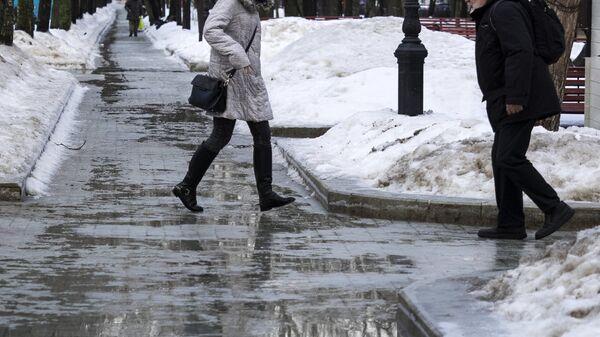 Гололед в Москве