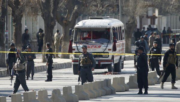 Полиция на месте теракта в Кабуле