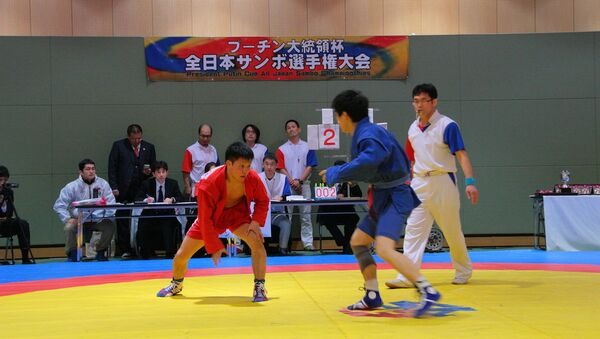 Кубок Путина по самбо в Японии. Архивное фото