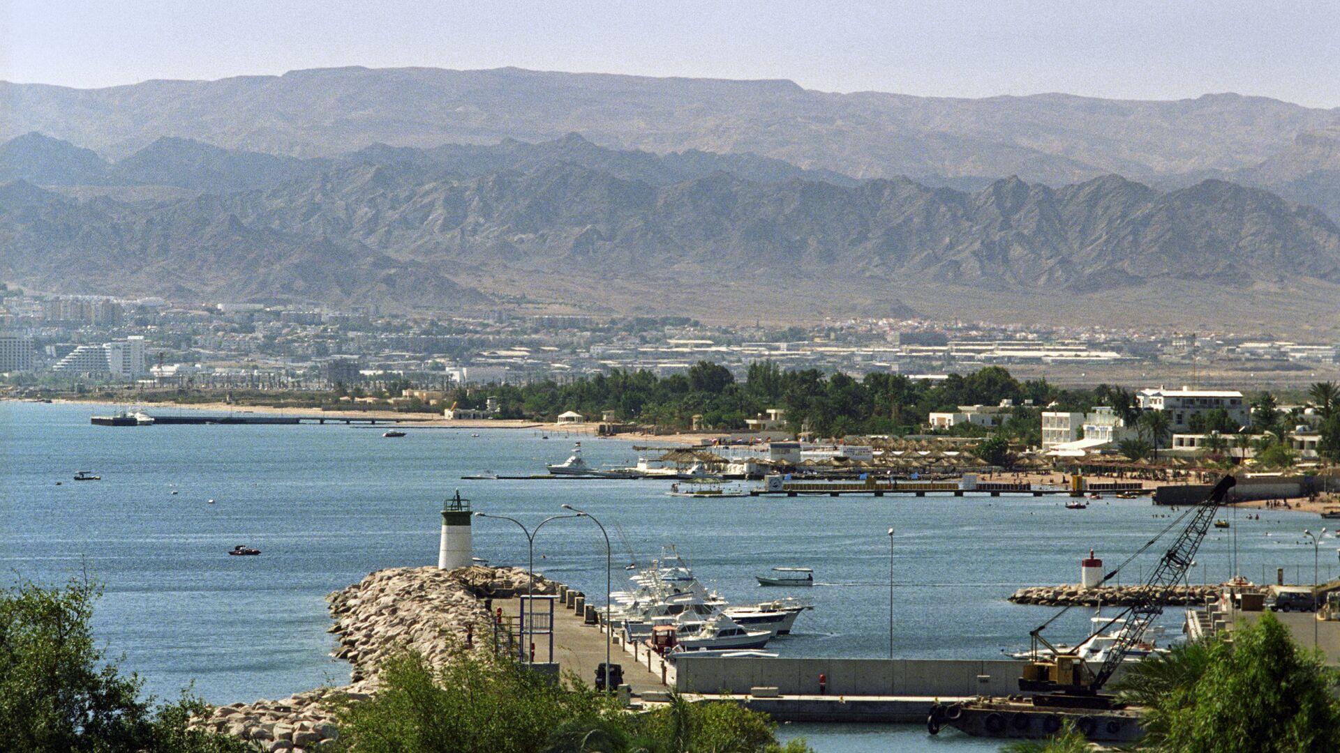 Вид на порт города Акаба. Иордания - РИА Новости, 1920, 01.02.2021