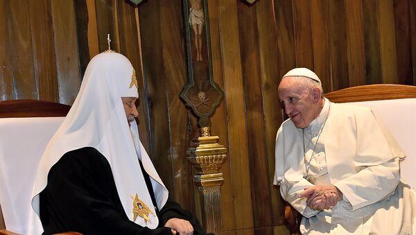 Встреча патриарха Московского и всея Руси Кирилла и папы римского Франциска в аэропорту Гаваны, 12 февраля 2016