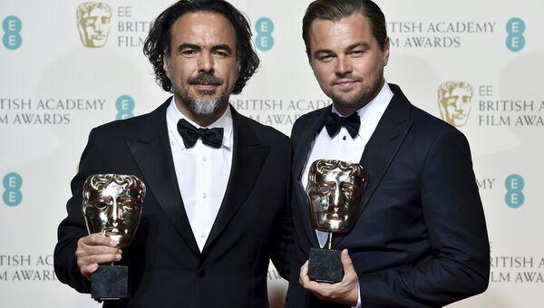 Алехандро Гонсалес Иньярриту и Леонардо ди Каприо получили премию BAFTA за фильм Выживший