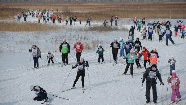 Лыжная гонка. Архивное фото