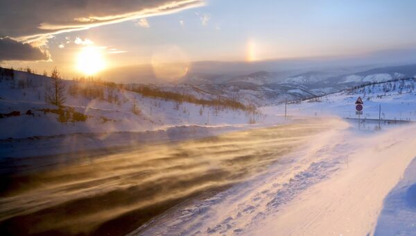 На трассе у озера Байкал. Архивное фото