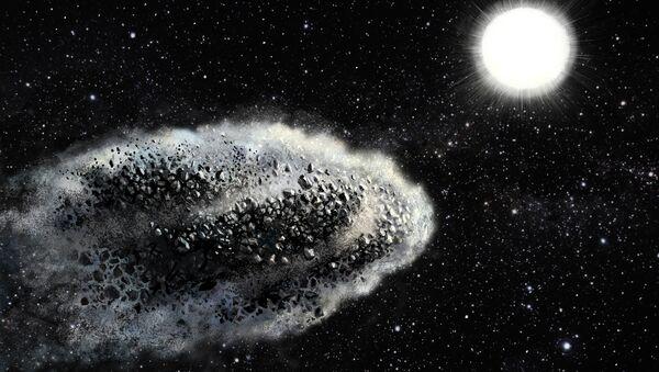 Облако пыли на орбите