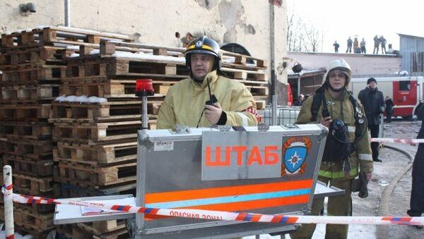 Пожар в Великом Новгороде на улице Большая Санкт-Петербургская