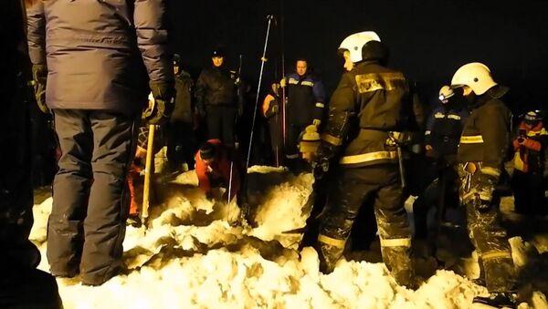 Снежная лавина сошла в городе Кировск Мурманской области. Кадры с места ЧП