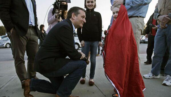 Кандидат в президенты сенатор Тед Круз во время встречи с избирателями в Рино, штат Невада