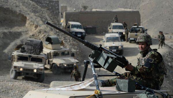 Афганские силы безопасности после операции против боевиков исламского государства (ДАИШ). Архивное фото