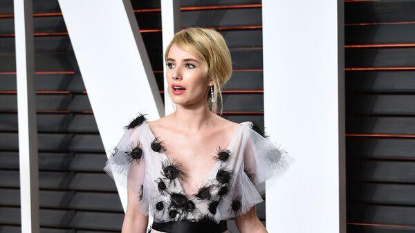 Эмма Робертс на Vanity Fair Oscar Party в Беверли-Хиллз