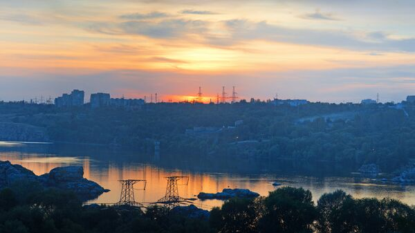 Вид на Запорожье, Украина