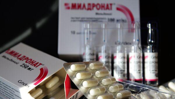 Лекарственный препарат мельдоний, продающийся под торговой маркой милдронат. Архивное фото