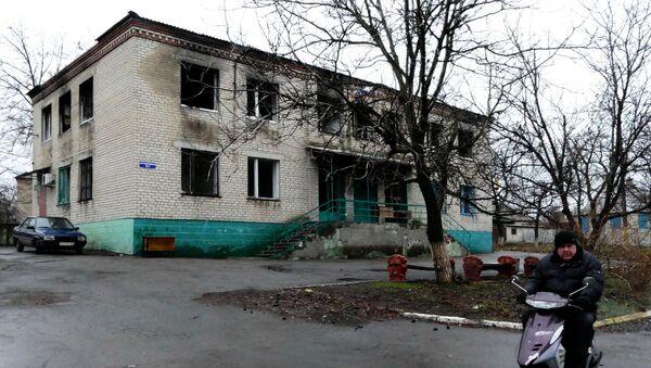 Один из домов в поселке Зайцево под Горловкой. Архивное фото