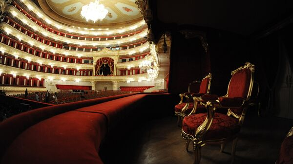 Интерьер Большого театра в Москве после завершения реконструкции. Архивное фото