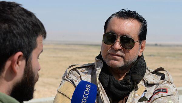 Главнокомандующий группировкой сирийских ополченцев Соколы пустыни Мохаммед Джабер