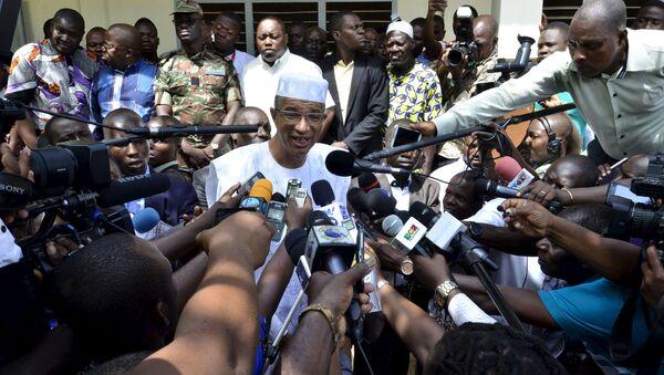 Кандидат в президенты Бенина Лионель Зинсу. 20 марта 2016