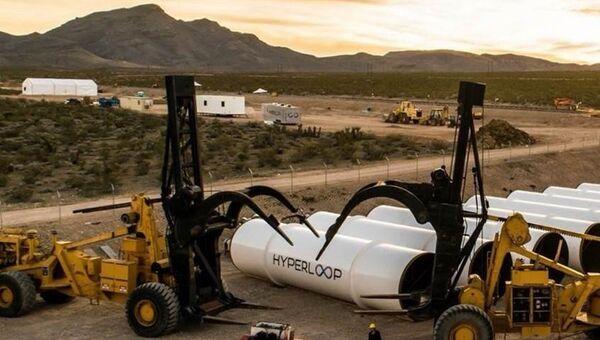 Разработки компании Hyperloop Technologies. Архивное фото