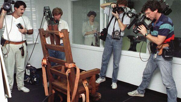 Электрический стул в американской тюрьме. Архивное фото