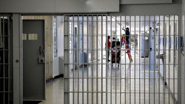 Коридор тюрьмы. Архивное фото