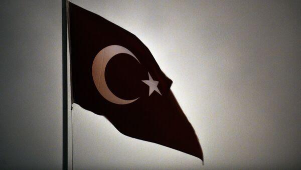 Флаг Турецкой Республики. Архивное фото