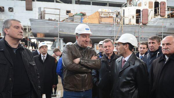 Д. Рогозин посетил завод Море в Феодосии