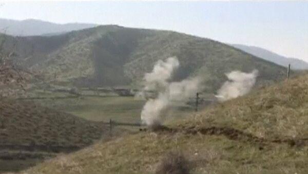 Последствия обстрела в Нагорном Карабахе