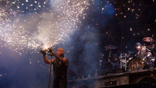 Выступление группы Rammstein