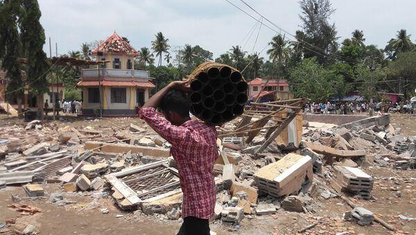 Храм в Индии, где произошел пожар. Архивное фото