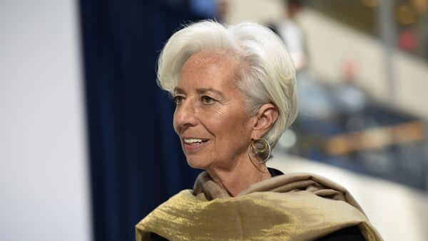 Глава Международного валютного фонда Кристин Лагард в штаб-квартире МВФ. Архивное фото