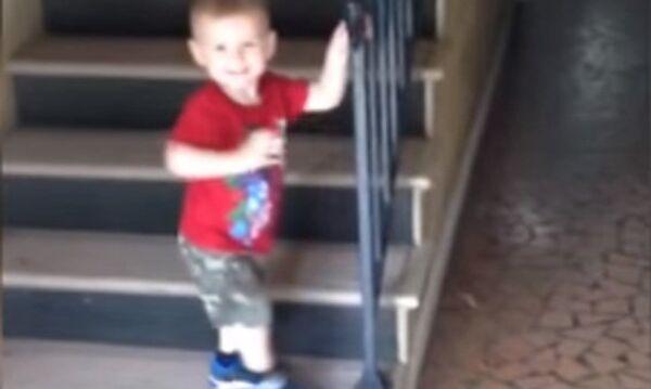 Бух с лестницы!