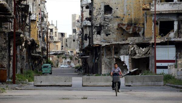 Ситуация в Хомсе. Сирия. Архивное фото