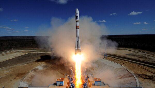 Старт ракеты-носителя Союз-2.1а. Архивное фото.