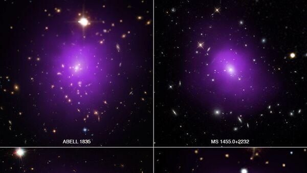 Скопления галактик в рентгеновском диапазоне, снимок телескопа «Чандра»