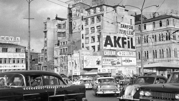 Вид на улицах города Стамбула