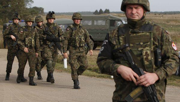 Польские военные во время учений на северо-востоке Польши. Архивное фото