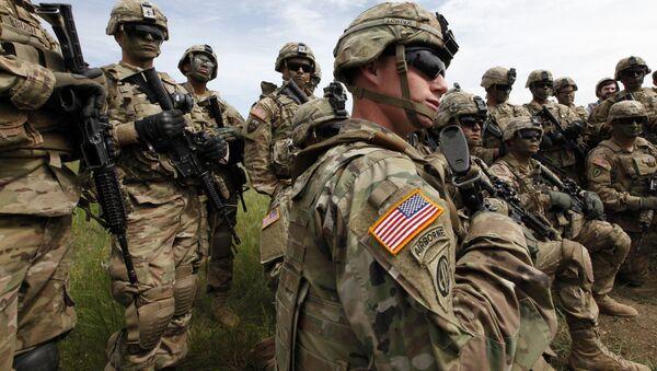 Военные на грузино-американских учениях Достойный партнер, которые проходят на военном аэродроме Вазиани