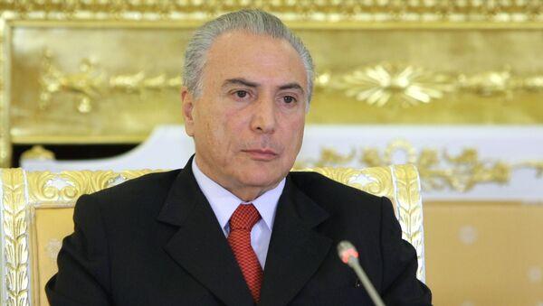 Президент Бразилии Мишель Темер. Архивное фото