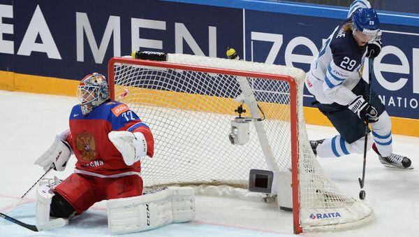 Полуфинал чемпионата мир по хоккею Россия - Финляндия