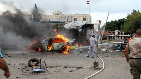 На взрыва в городе Тартус, Сирия. 23 мая 2016